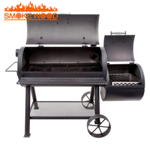 2017 Heavy duty Two large Barrels Smoker Barbecue Grill Outdoor Commercial Bbq Charcoal Oven Pellet Grill Smoker