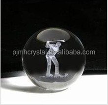 engraving Glass world globe Paper weight MH-BL035