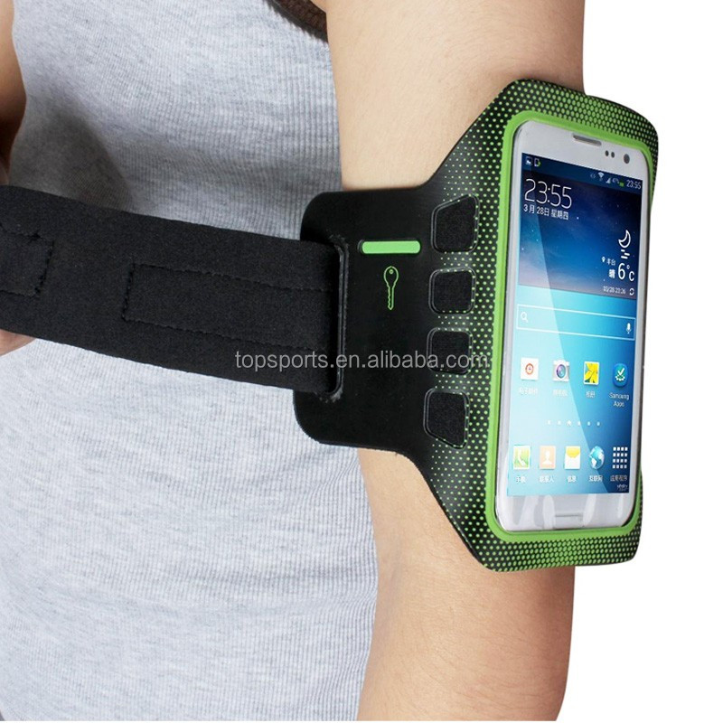 Retro Waterproof PU Leather Case mesh running sport armband For Samsung For Iphone 6 running sport phone