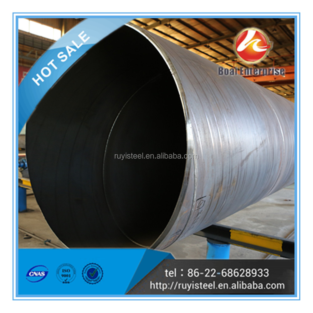 Tianjin Boai Factory supply best brand welded pipe, SSAW steel pipe for hot sale
