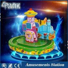 Factory direct sale coin operated amusement park rides mini castle train kiddie rides for sale