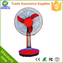 Ac dc rechargeable fan with light household 12v solar fan with cheap price