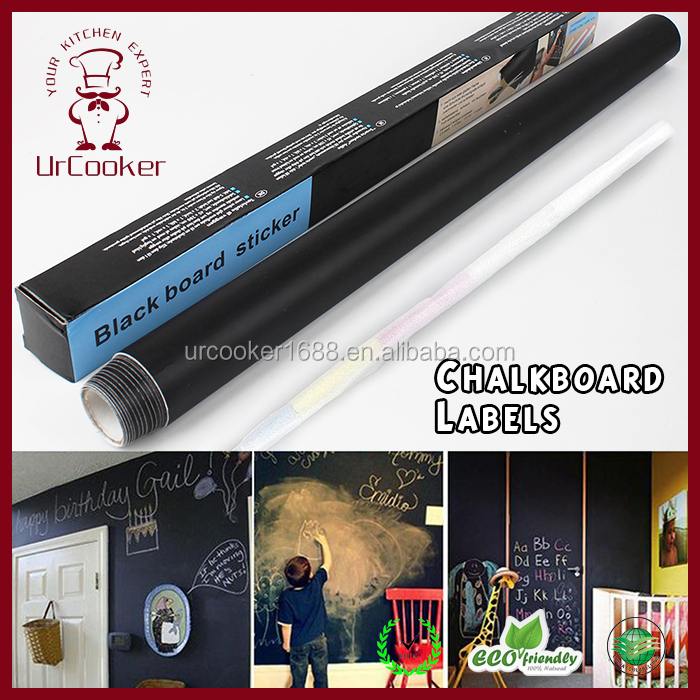 Rectangle Chalkboard Sticker Label blackboard wall sticker Black Board for Message Board Signs