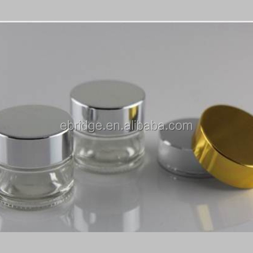 100ml round cosmetic packing glass bottle and jar, make-up cream glass containers wholesale