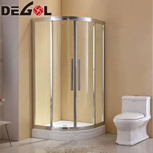 Excellent waterproof performance approved cheap aluminium frame curved glass shower room door