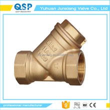 "1""Internal Thread Brass Type Y Water Oil Strainer with Connector Plug Valve 1 inch brass y strainer for outdoor"