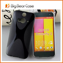 Soft TPU back case for HTC Butterfly 2 D810X case cover