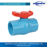 PVC double union ball valve socket/thread