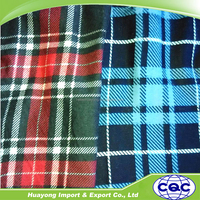 China wholesale woven cotton flannel fabric for shirt with custom from factory