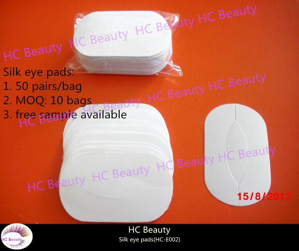 Factory Direct, 25 pairs or 50 pairs/bag,Eyelash Extensions Silk Under Eye Pad Stickers for Eyelashes Extension,paypal