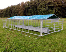 Gavanized heavy duty corral gate panels bull rail pens livestock metal fence panels
