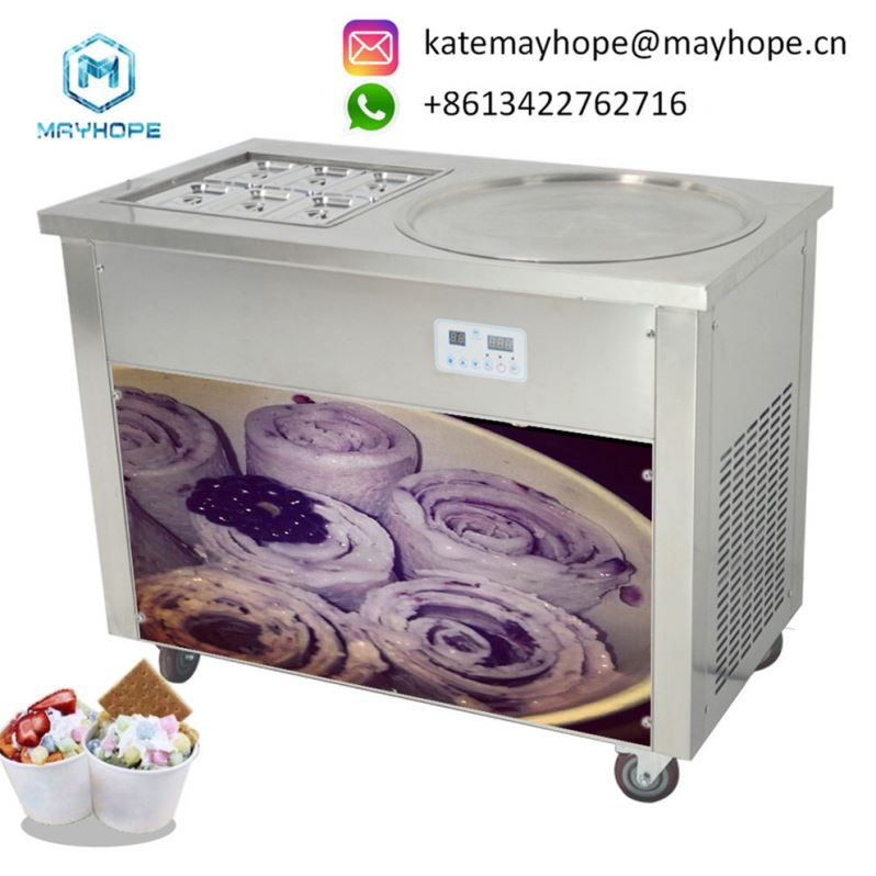 Long Age Ice Cream Maker,Save <strong>Electricity</strong> Instant Ice Cream Rolls Machine