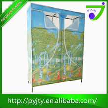 Non-woven portable folding fabric wardrobe
