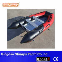 (CE) pvc material 3m folding inflatable rubber dinghy boat