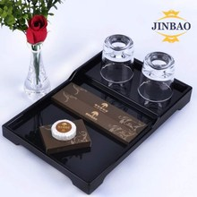 JINBAO Factory Wholesale Color Square Clear Tea and Coffee Holder Acrylic Food Fruit Plate Serving Tray