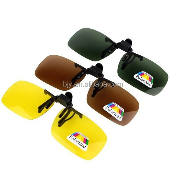 3 size 4 colors hot sale big clip on sunglasses enhanced polarized lens Myopia clip Flip Up Sunglass