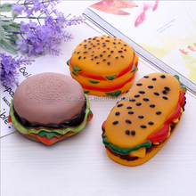 custom food shape vinyl toy/like real hamburger vinyl toy/chinese supplier custom made PVC vinyl toy