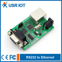 USR-TCP232-2 Serial RS232 to Ethernet/TCP IP/RJ45 Module Converter Support 10/100M Auto Detect Interface
