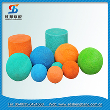 concrete pump rubber hard / soft natural cleaning sponge ball for sale