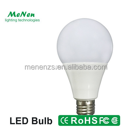 new model LED Plastic Bulb Light 9W in plastic coated aluminum body e27