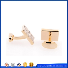 Factory hot sale rose gold plating swank cufflinks value
