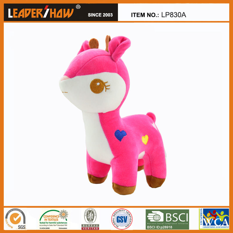 Colorful fleece plush deer toy for kids made in china with best quality