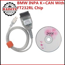 Lowest price!!!10pcs/lot for bmw inpa ediabas k dcan OBD OBD 2 USB Cables For bmw Inpa Ediabas K+DCAN USB Interface Diagnostic