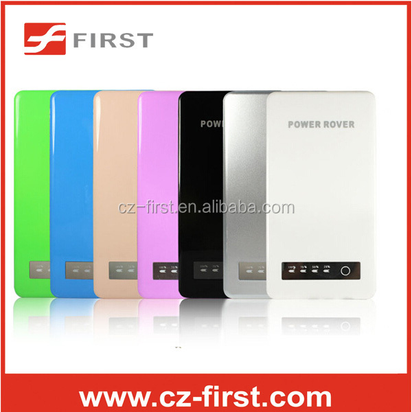 ultrathin 5000mah power bank with Double usb port