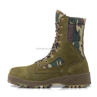 Buy Wateroof Leather Green Military Camouflage Boots in China on ...
