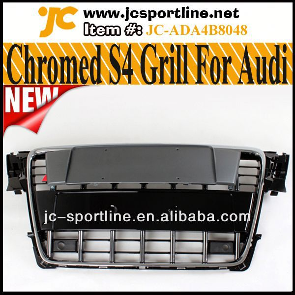 A4 S Style S4 Chrome Grille For Audi A4 B8 With Parking Sensor
