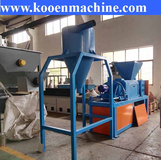 300-500kg/h PP PE film scrap wet film squeezing drying machine squeezer drying granulator machine