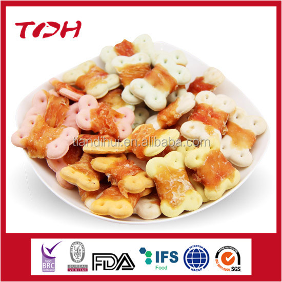 pet food ingredients for UK market chicken wrap cookie croissant labelling service Qingdao pet food