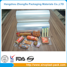 packaging materials plastic stretch wrap film on roll for food pack