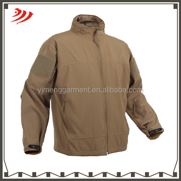 Wholesale customized 10000mm waterproof tactical softshell jacket