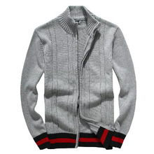 customized oem wholesale adult male man name brand zip cardigan sweater