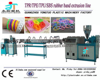 Chinese factory anti-skidding TPU/TPR/SBS elastic band extruder machine / rubber band production line