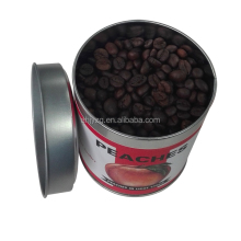 round coffee bean packaging tin box