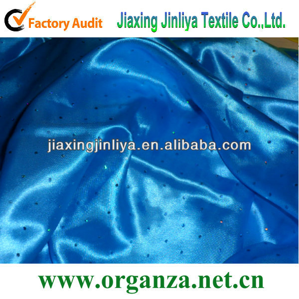 Royal blue sequin polyester satin fabric suppliers