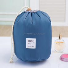 Newest selling toiletry cosmetic organizer ladies drawstring toto barrel travel kit bag
