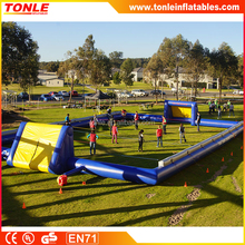 commerical outdoor inflatable human foosball court/ inflatable foosball table