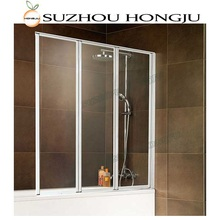 Cheap Folding Glass Portable Shower Screen