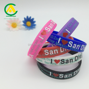 Custom factory made cheap free samples silicone wristband, segments bracelets