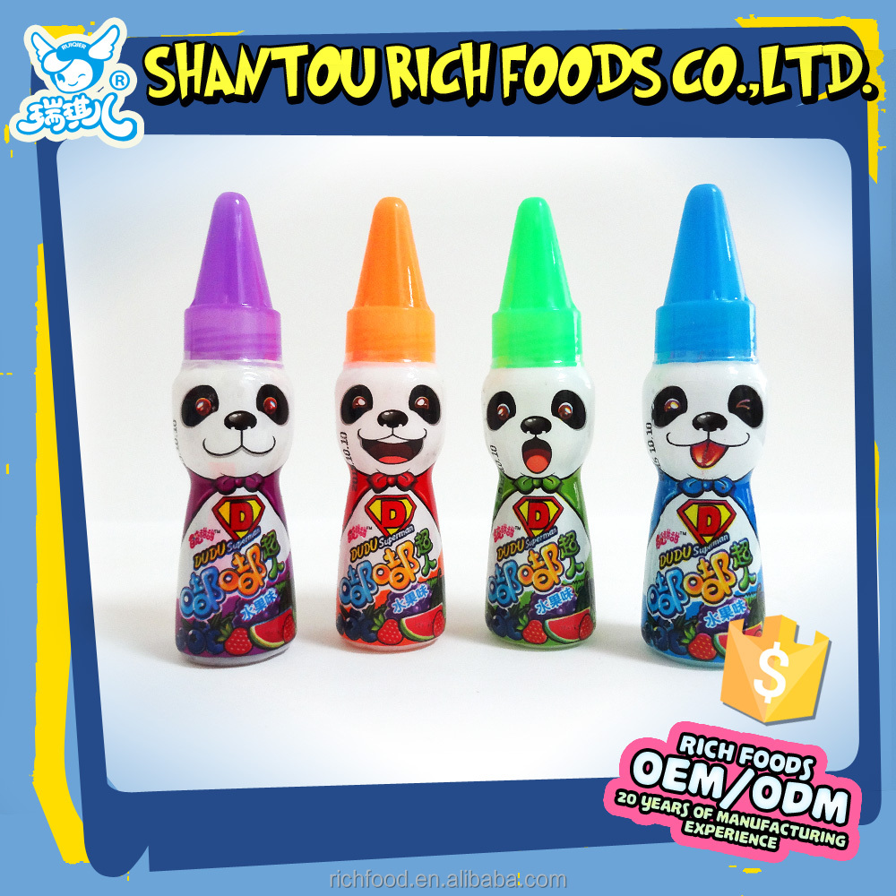 fruit flavor rocket shape sour liquid candy for kids