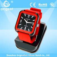 Newest watch Silicone Multi-color Japan movement waterproof custom made watches
