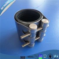 RCE stainless steel Restrained High Performance Coupling pipe leakage repair clamp