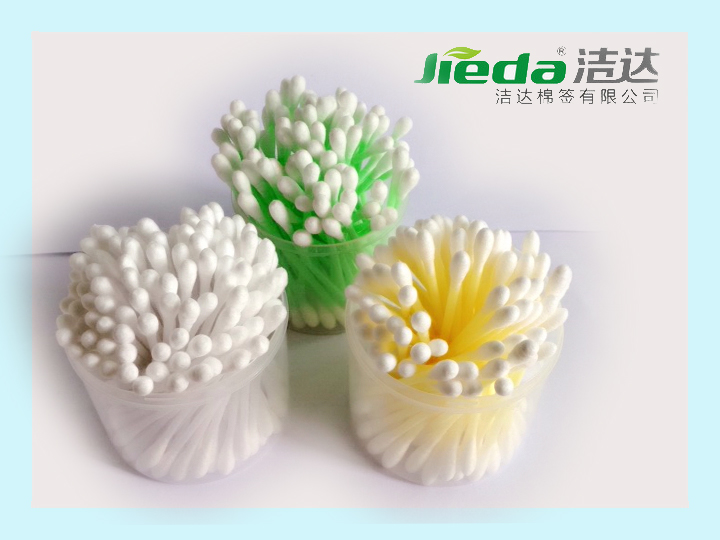 "New products best selling 3"" 100pcs China Manufacturer with colourful twist flower plastic cotton swab"