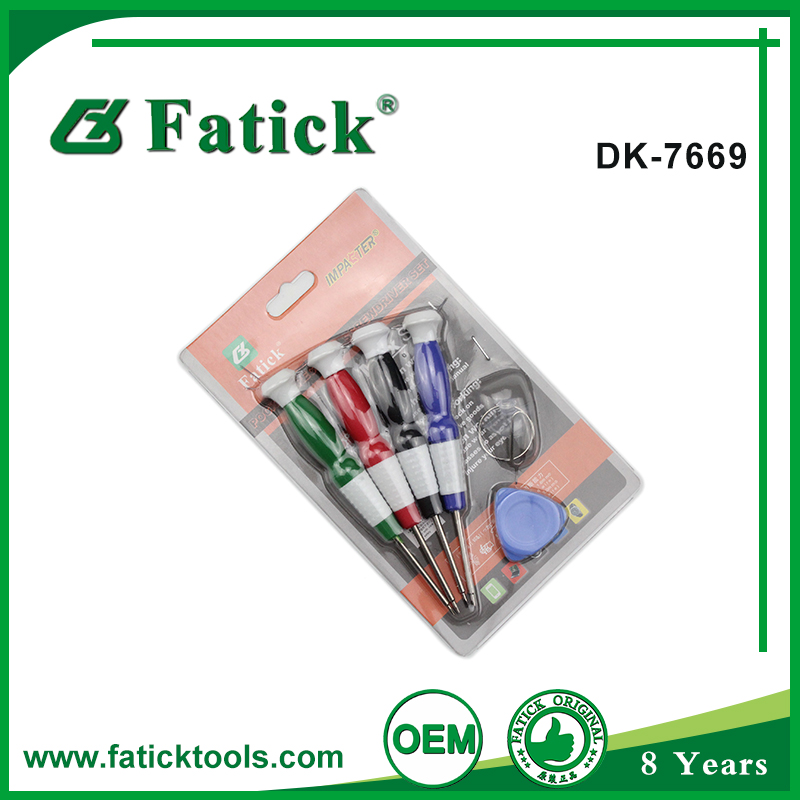 customized LOGO Printing hand plastic handles screwdriver tool set