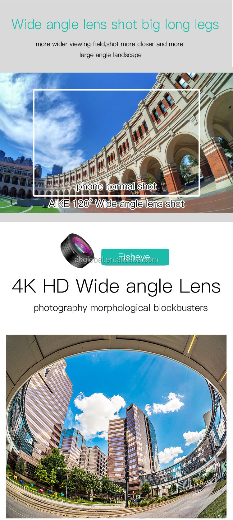 New gadgets 2017 mobile phone universal camera 3 in 1 0.36X wide angle+198 fisheye lens kit for samsung galaxy a7