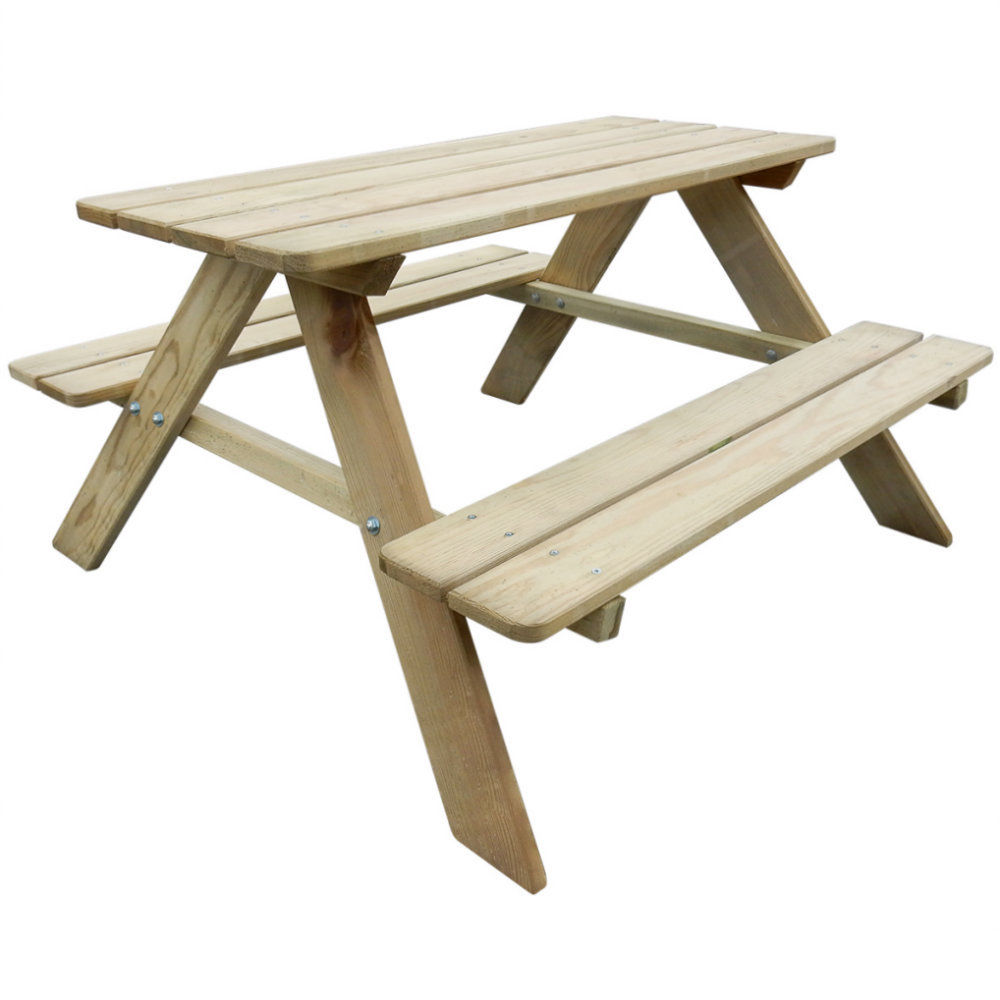 Bench Seat Kids Outdoor Garden Patio Furniture Set Childrens Wooden Picnic Table