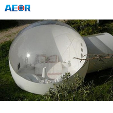PVC material inflatable clear transparent bubble tent / high quality inflatable bubble room for camping